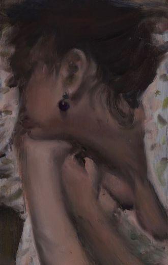 Florin Stefan, Mercredi matin, 2017. Huile sur toile 55 x 35 cm. courtesy de l'artiste et galerie Anne-Sarah Bénichou
