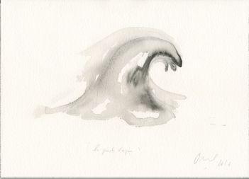 Jean-Michel Othoniel La Grande Vague, 2016 Aquarelle sur papier H : 26 x L : 36 cm. Collection de l'artiste.
