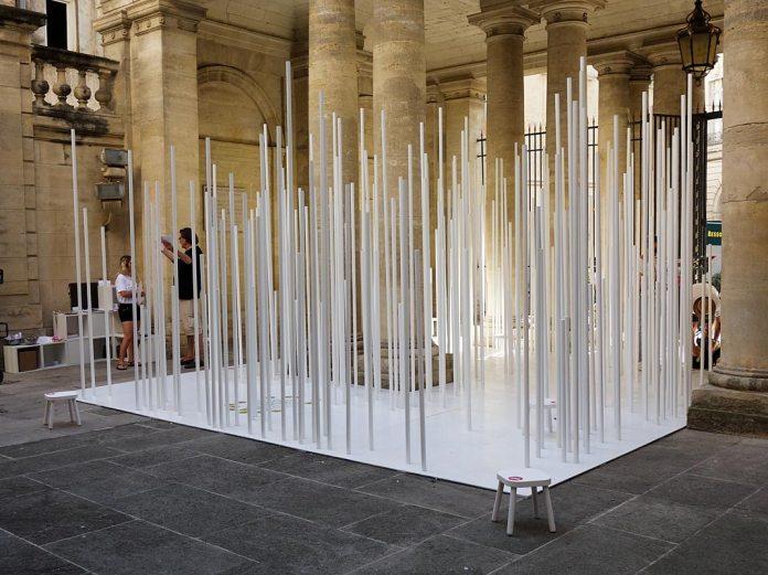 FAV 2017 -Pavillon - Émotion verticale ØNA Architecture Maxime Agred, Quentin Giraud, Jean-Baptiste Blondel et Julien Gueganou