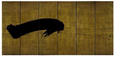 Fabienne Verdier L'Un. Peinture Automne-Hive r, 2010 Hommage à Dubuffet Pigments et encre sur toile, 180 x 365 cm © Fabienne Verdier. Courtesy Galerie Jeanne Bucher Jaeger, Paris © ADAGP, Paris 2017