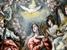 El Greco, L'Immaculée Conception de la chapelle Oballe, 1608-1613 (détail). Huile sur toile, 3,48 x 1,74 m - Musée de Santa Cruz