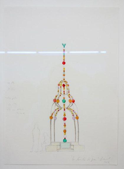 Jean-Michel Othoniel, Aquarelles et dessins - La tombe de Jean F