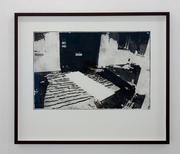 Sylvain Fraysse, Série Rust never sleep, 2017. Pointe sèche sur plexiglas, 97 x 82 cm - Galerie Vasistas