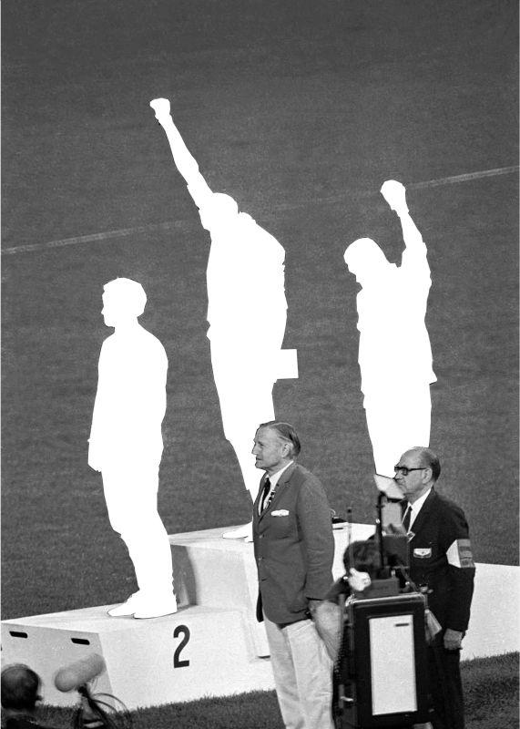 Berdaguer & Péjus, Smith, Norman, Carlos, Mexico 68 - Stand Mécènes du Sud