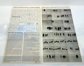Three distributions by Yvonne Rainer, People Plan & Lecture on Moving, 1970-71 - A different way to move - Minimalismes