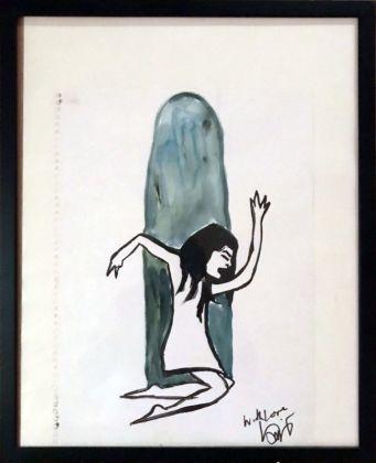 Brisa Roché, Stoned, 2000, encre sur papier, 40 x 25 cm. Collection Jean-Charles de Castelbajac - Drawing room 017