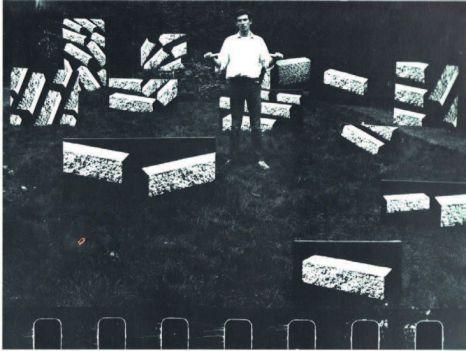 Jacques Charlier, Tableaux Bétons, 1968 Photographie, 120 x 100 cm Courtesy Jacques Charlier