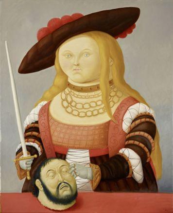 Fernando Botero, D'après Cranach, 2016 Huile sur toile 172 x 140 cm Collection privée © Fernando Botero