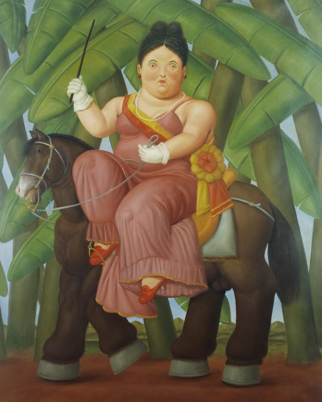 Fernando Botero, La Première Dame, 1989 Huile sur toile 203 x 165 cm Collection privée © Fernando Botero