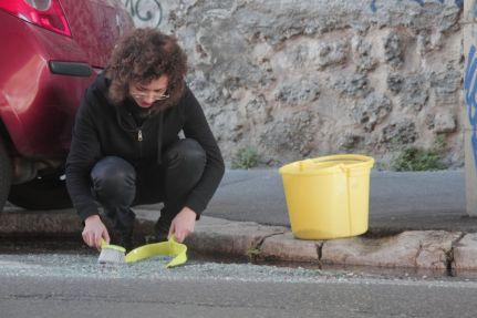 Hanane El Farissi, Performance «Rue Guibal», Marseille © Hanane El Farissi
