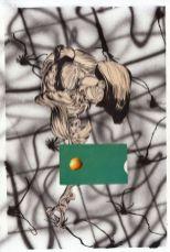Hippolyte Hentgen, Hair, («1,2,3»), 2017, technique mixte sur papier, 22 x 32 cm. © Hippolyte Hentgen