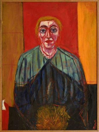 Pierre Tal Coat, Femme au manchon, 1936 Huile sur panneau 100 x 81 cm Collection particulière, Lyon Photo: Pierre Aubert, © ADAGP Paris 2017