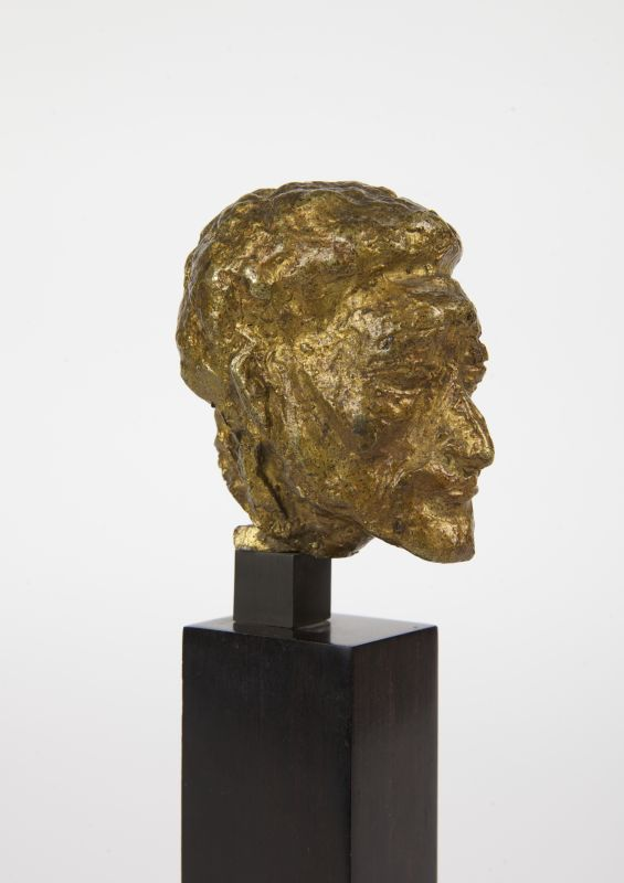 Pierre Tal Coat, Portrait d'Alberto Giacometti (Tête), vers 1934-1935 Bronze 5,8 x 6 x 5 cm Collection Aittouarès Photo : Bertrand Michau, © ADAGP Paris 2017
