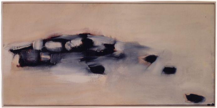 Pierre Tal Coat, Troupeaux, 1959 Huile sur toile 51 x 100 cm Collection particulière, Suisse Photo: Zines Galai, © Studio Curchod, Vevey (CH), © ADAGP Paris 2017