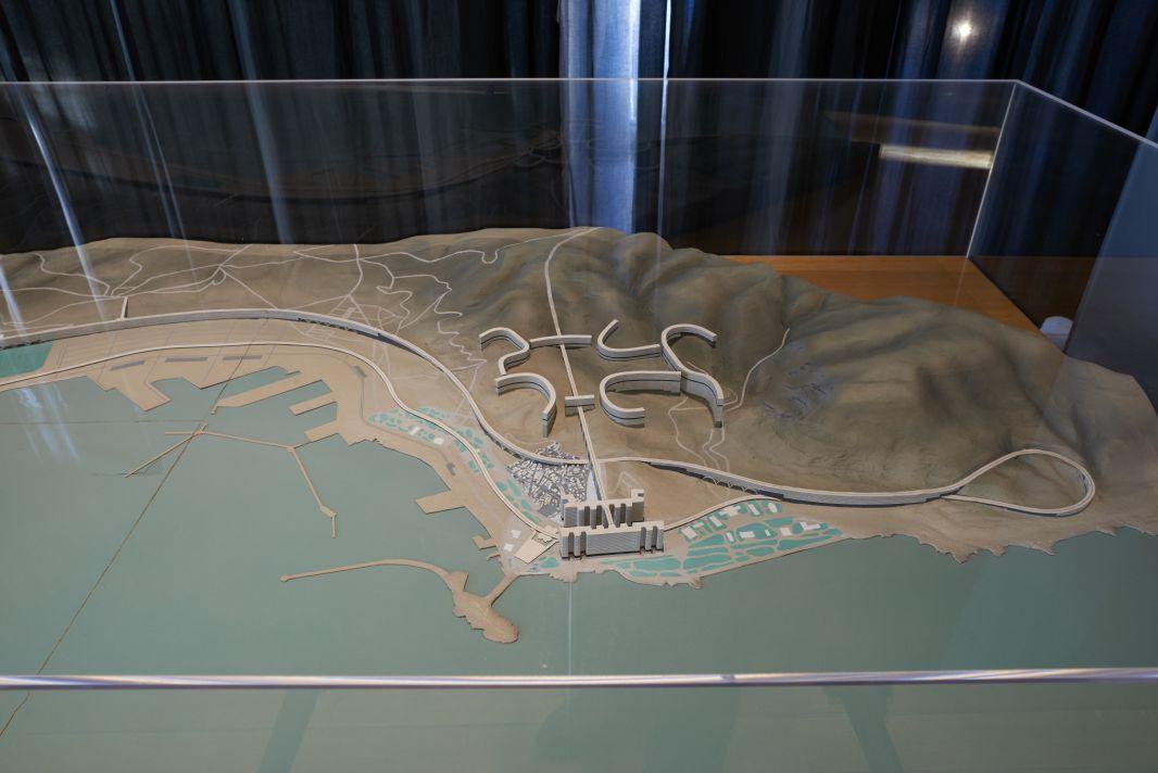 Le Corbusier, Maquette du plan Obus, Alger, 1930 - Exposition Connectivites Nov 2017 (c) Francois Deladerriere