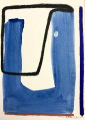 Caroline Denervaud, Composition 6, 2017. Caséine et pastel. 25 x 18 cm - Shapes, Body and Soul - Double V Gallery