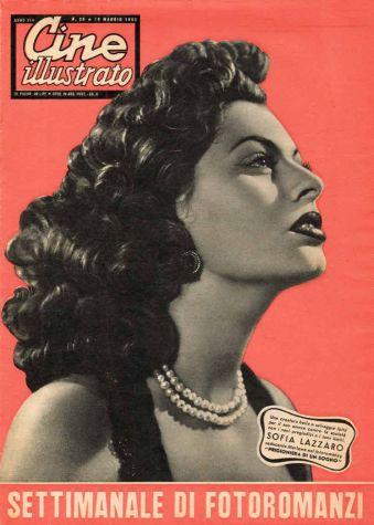 Cine illustrato no 89, avec Sophia Loren Rome, Italie, 1950-1952 Collection Roberto Baldazzini. © DR