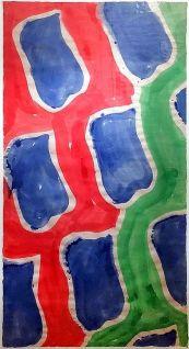 Claude Viallat, Sans titre (détail), 2003. Acrylique sur papier