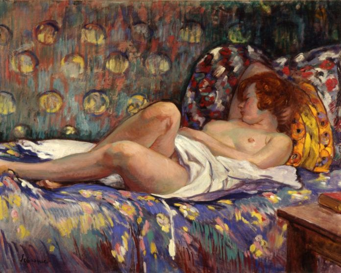 Sa Muse... Au musée Regards de Provence. Lebasque, Nu endormi sur un lit copyright Jean Bernard -MP2018
