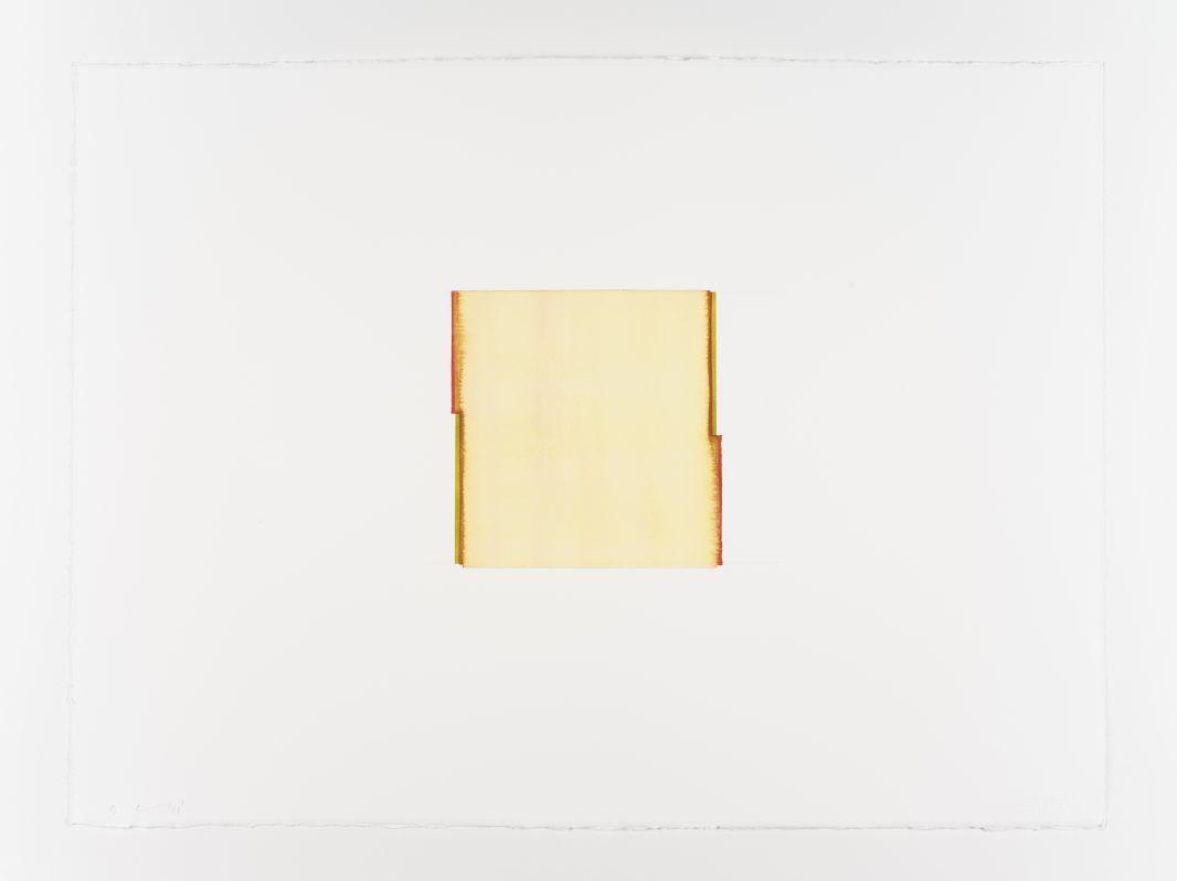 Callum Innes, Gold Green / Carmine, 2018