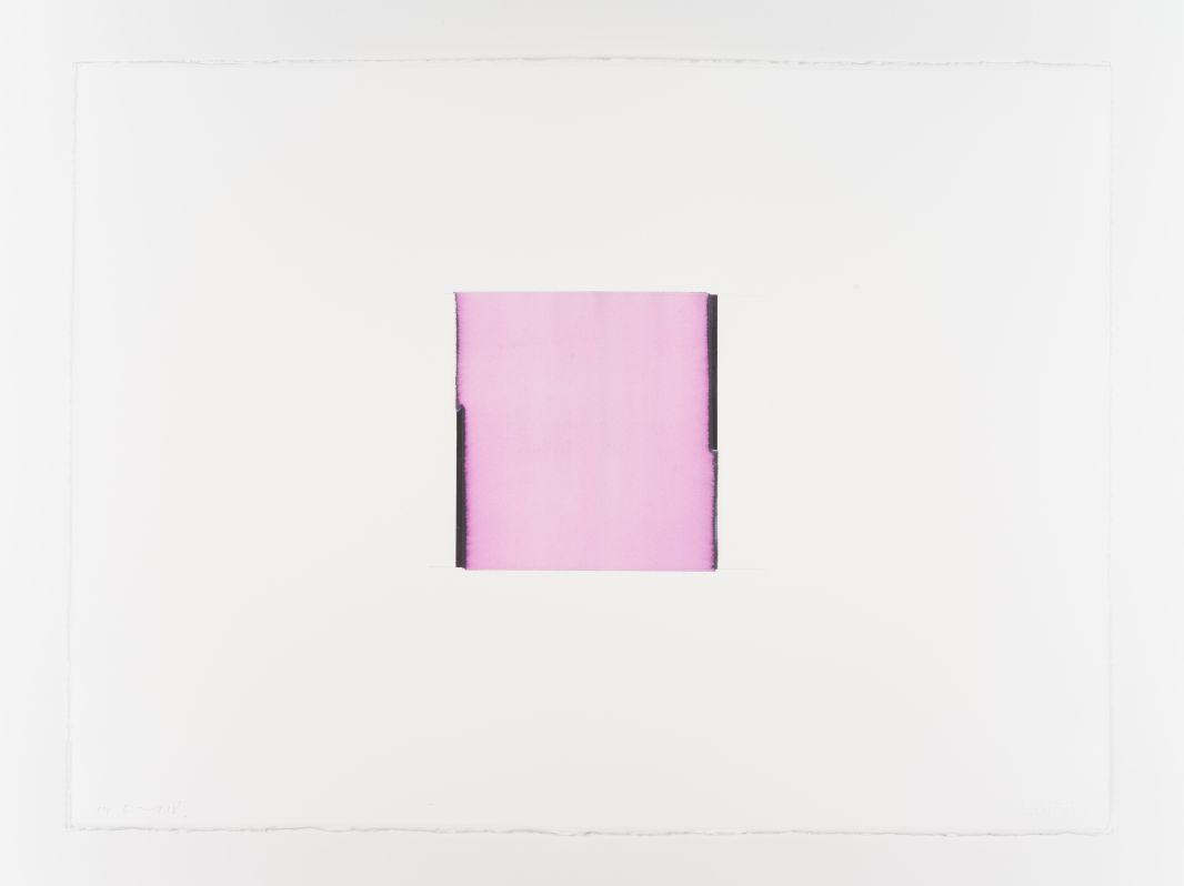 Callum Innes, Violet Black / Titanium White, 2018