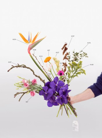 Natalie Czech, A Critic's Bouquet by Hili Perlson for Berlinde de Bruyckere, 2015, Archival Pigment Print, 2 parts, 107 x 79,4 cm and Offset 33 x 15,6 cm