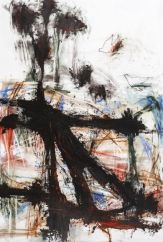 Thierry Delaroyère, La Paix en danger, 2016. pastel sec, acrylique, et mine de plomb sur bois, 116 x 81 cm © Patrice Lemesle