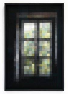 Stéphanie Majoral Fenêtre #2, 2014 Crayon de couleur sur papier lavis Vinci, 118,5 x 80,7 cm. MRAC Sérignan. N° Inv. MS.2016.7.1 Achat à la Galerie Iconoscope, Montpellier