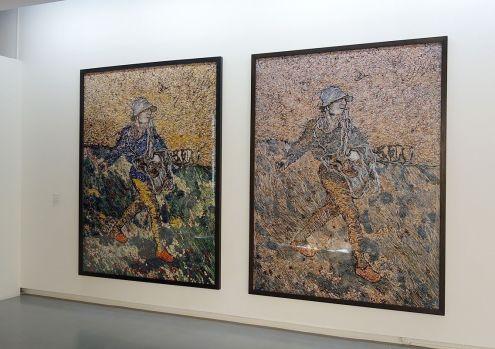 Vik Muniz, Le Semeur, d'après Van Gogh, 8 décembre 2011 et Le Semeur, d'après Van Gogh, 8 juin 2012 - J'♥ Avignon à la Collection Lambert