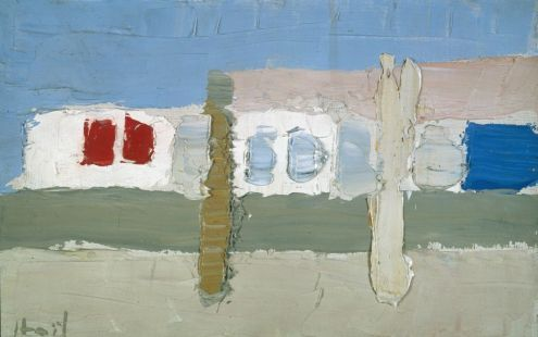 Nicolas de Staël, Grignan, 1953, huile sur toile, 14 x 22 cm, collection privée/Courtesy Nathan Fine Art Zurich © Adagp, Paris, 2018, photo: © Jean Louis Losi