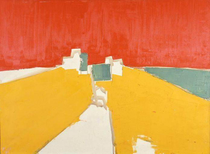 Nicolas de Staël, Agrigente, 1953-1954, huile sur toile, 60 x 81 cm, peint à Ménerbes, collection privée/Courtesy Lefevre Fine Art, Londres, photo: © Courtesy Lefevre Fine Art, Londres