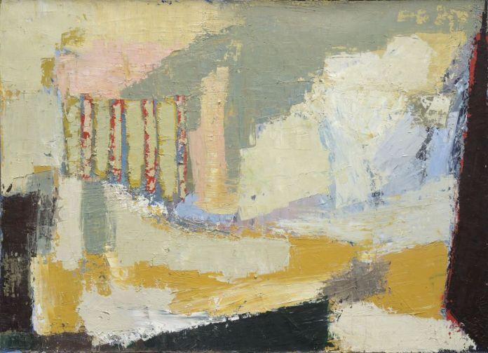 Nicolas de Staël, Paysage, Sicile, 1953, huile sur toile, 73 x 100 cm, collection privée © Adagp, Paris, 2018, photo : © Jean Louis Losi