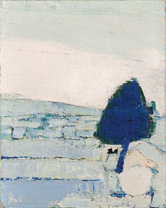 Nicolas de Staël, Paysage de Provence, 1953, huile sur toile, 81 x 65 cm, collection privée/Courtesy Applicat-Prazan, Paris © Adagp, Paris, 2018, photo : © Applicat-Prazan