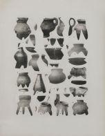 Asier Mendizabal, Geodesia y antropometria (vasijas), 2016 Collage, 30 x 25 cm Courtesy ProjecteSD, Barcelone Photo R. Ruiz. © A. Mendizabal. Un désir d'archéologie à Carré d'art – Nîmes