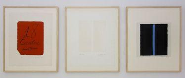Barnett Newman, Cantos, 1963-1964 (détail) - Djamel Tatah à la Collection Lambert - Vue de l'exposition, salle 7