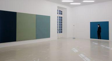 Brice Marden, Tête Lobi et Djamel Tatah - Djamel Tatah à le Collection Lambert -vue de l'exposition salle 1