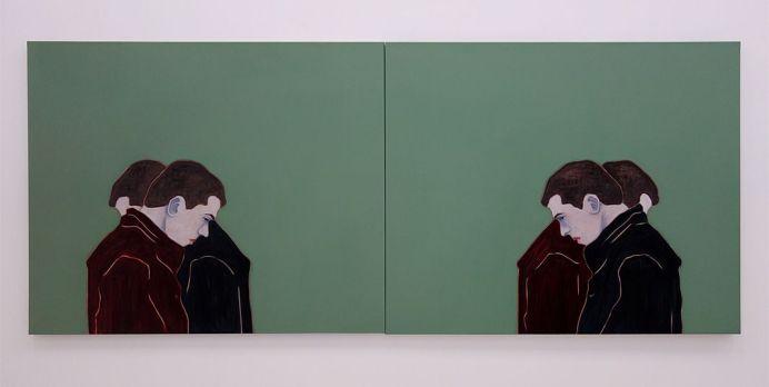 Djamel Tatah, Sans titre, 2016 - Collection Lambert - Vue de l'exposition, salle 4