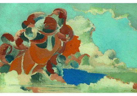 Paul Nash. Tête de cumulus, 1944. Huile sur toile, 41 × 61 cm. Collection privée.