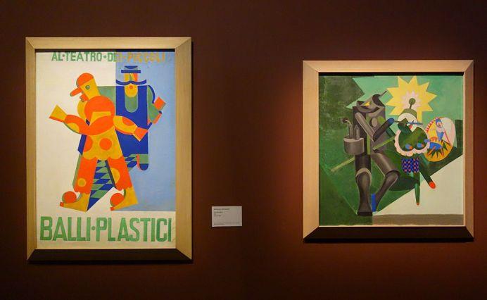 Fortunato Depero, Affiche pour Balli plastici, 1918 et Meccanica di ballerini, 1917 - Picasso et les Ballets russes, entre Italie et Espagne au Mucem