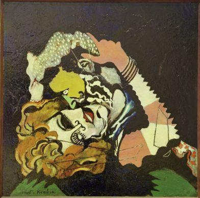 Francis Picabia, Les Amoureux (Après la pluie), vers 1924-1925 Ripolin sur toile, 116 x 115 cm Musée d'art moderne de la Ville de Paris © ADAGP, Paris 2018
