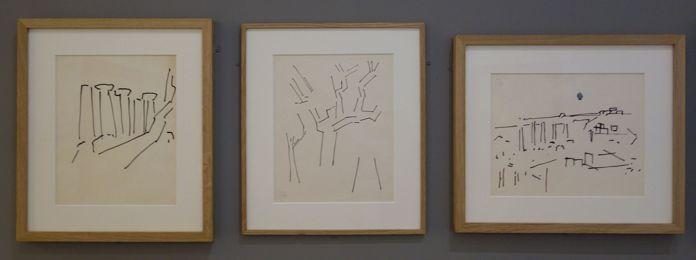 Nicolas de Staël, Dessins, Italie et Sicile 1953 - Hôtel de Caumont - Salle 4 - Paysages au couchant, de Provence en Sicile