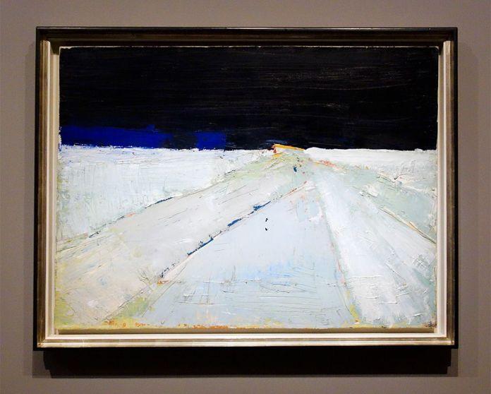 Nicolas de Staël, Paysage, Agrigente, 1953-1954 - Hôtel de Caumont - Salle 9 - Les nuits d'Agrigente