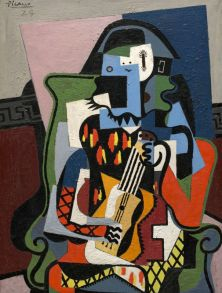 Pablo Picasso, Arlequin musicien, 1924,huile sur toile, 130 x 97.2 cm, Washington,National Gallery of Art Given in loving memory of her husband, Taft Schreiber, by Rita Schreiber, 1989.31.2,photo© Succession Picasso 2018