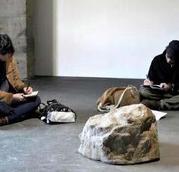 Philippe Parreno, Cours de dessin - La pierre qui parle, 1994