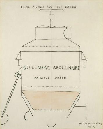 Picabia, Portrait d'Apolinaire (irritable poète), 1918-1919 - Galerie Natalie Seroussi