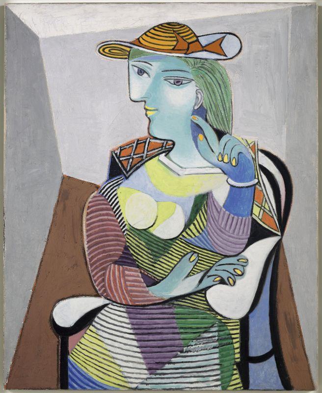 Pablo Picasso, Portrait de Marie-Thérèse, 6 janvier 1937 [Paris], huile sur toile, 100 x 81 cm, Musée national Picasso-Paris, inv. MP159, dation 1979, photo © RMN-Grand Palais (Musée national Picasso-Paris) / Adrien Didierjean, service presse / musée Fabre © Succession Picasso, 2018