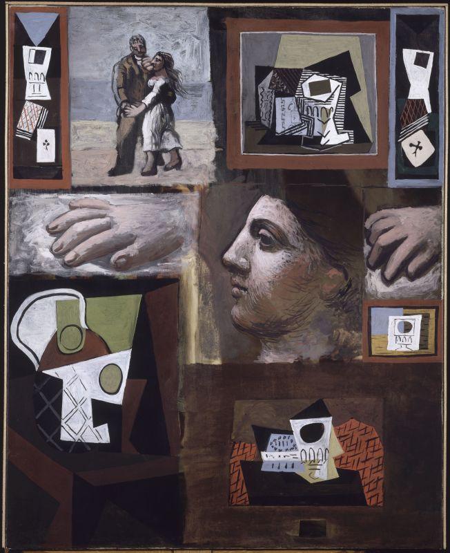 Pablo Picasso, Études, 1920, huile sur toile, 100 x 81 cm, musée national Picasso-Paris, inv. MP65, dation 1979, photo © RMN-Grand Palais (Musée national Picasso-Paris) / René-Gabriel Ojéda, service presse / musée Fabre © Succession Picasso, 2018