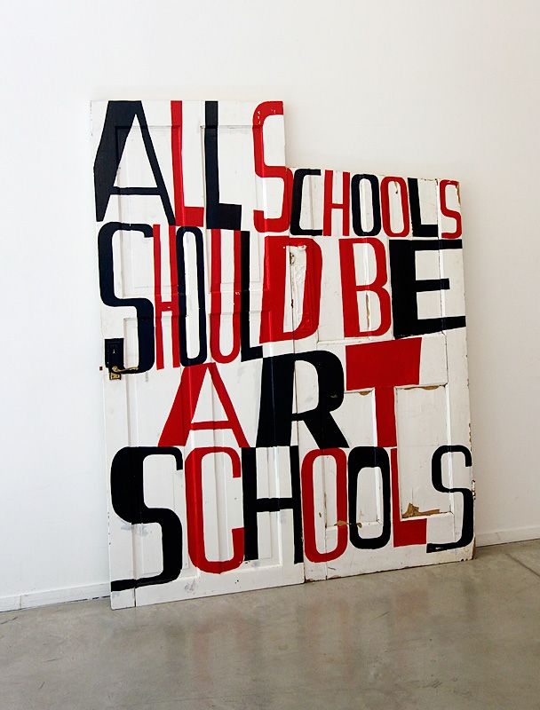 Bob and Roberta Smith - « Activist » à La Panacée - couloir 02