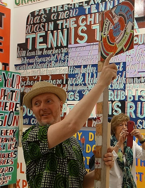 Bob and Roberta Smith - Activist » à La Panacée - Salle 2