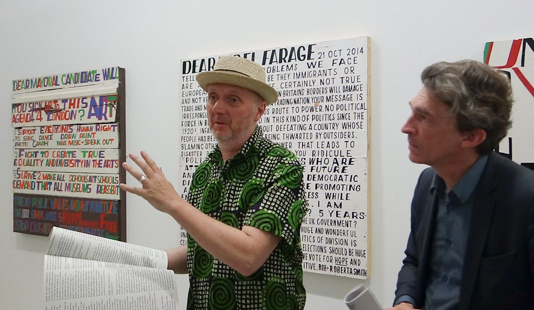 Bob and Roberta Smith et Nicolas Bourriaud - « Activist » à La Panacée